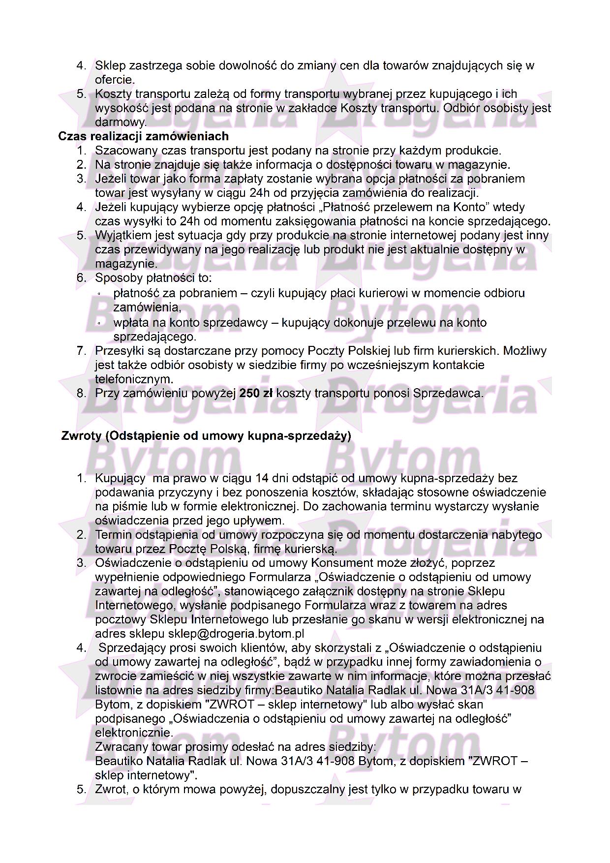 Regulamin część nr 2