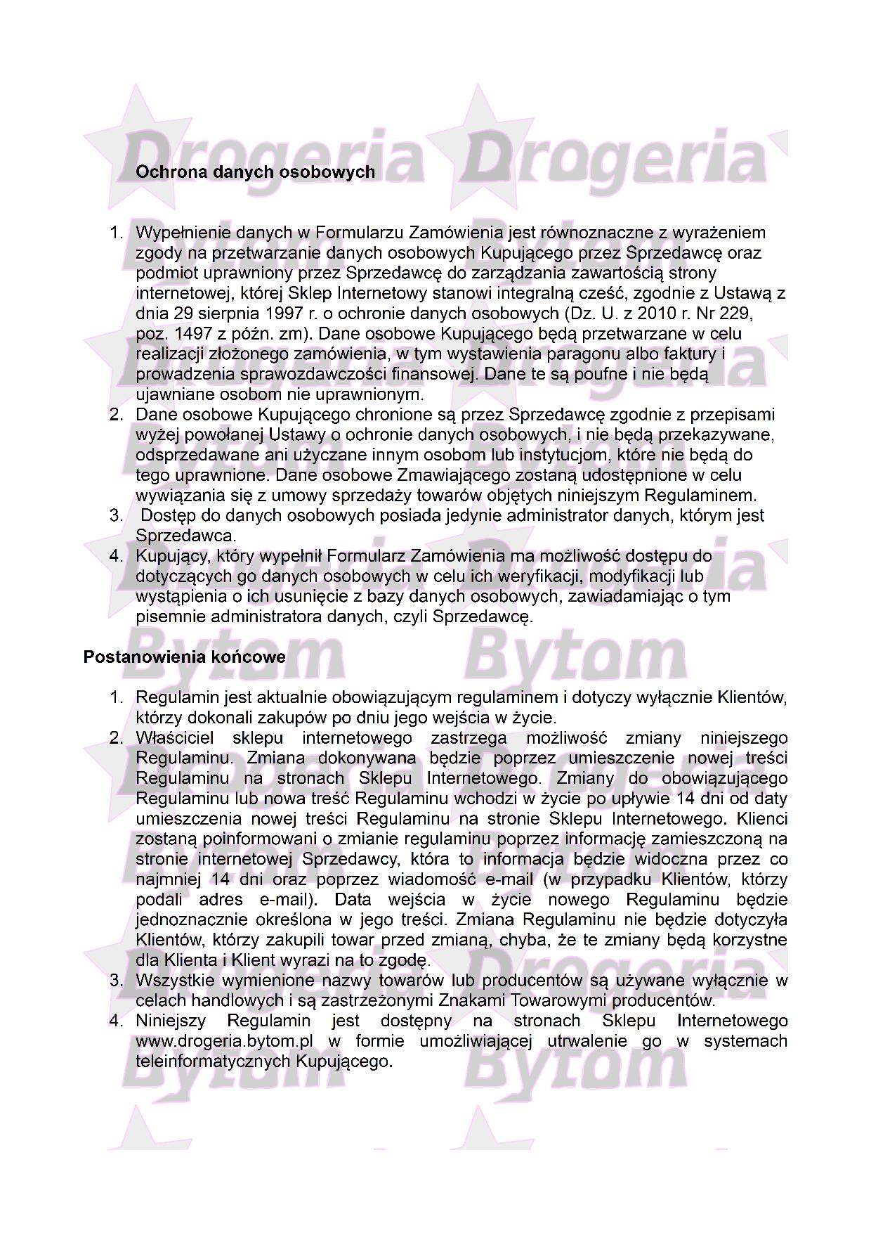 Regulamin część nr 4